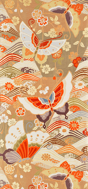 Embroidery「The Japanese Kimono, close up」:スマホ壁紙(11)