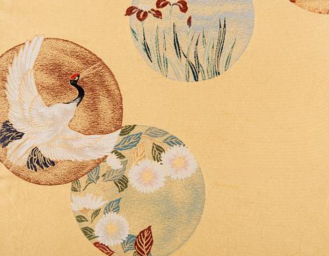 Embroidery「The Japanese Kimono, close up」:スマホ壁紙(5)