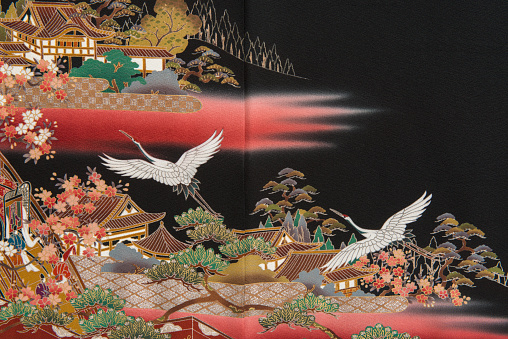 Embroidery「The Japanese Kimono, close up」:スマホ壁紙(7)