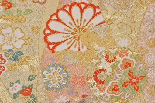 Embroidery「The Japanese Kimono, close up」:スマホ壁紙(4)