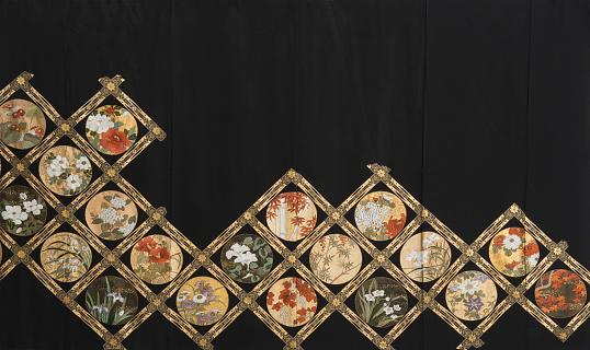 Embroidery「The Japanese Kimono, close up」:スマホ壁紙(2)