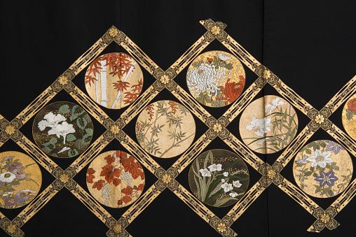 Embroidery「The Japanese Kimono, close up」:スマホ壁紙(17)