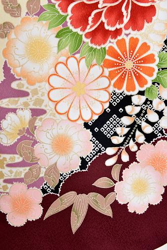 Embroidery「The Japanese Kimono, close up」:スマホ壁紙(11)