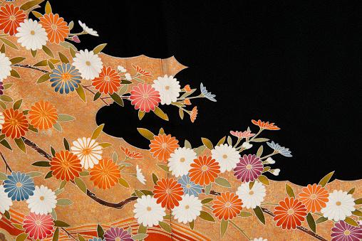 Embroidery「The Japanese Kimono, close up」:スマホ壁紙(12)