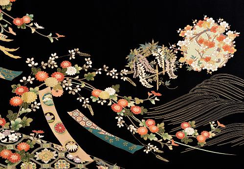 Embroidery「The Japanese Kimono, close up」:スマホ壁紙(14)