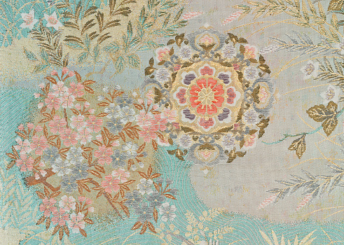 Embroidery「The Japanese Kimono, close up」:スマホ壁紙(18)