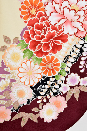 Embroidery「The Japanese Kimono, close up」:スマホ壁紙(10)