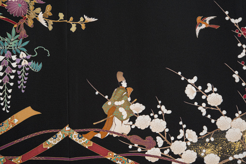 Embroidery「The Japanese Kimono, close up」:スマホ壁紙(9)