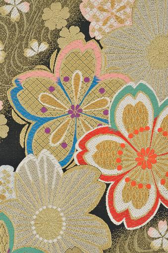 Embroidery「The Japanese Kimono, close up」:スマホ壁紙(6)
