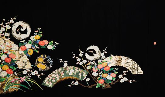 Embroidery「The Japanese Kimono, close up」:スマホ壁紙(8)