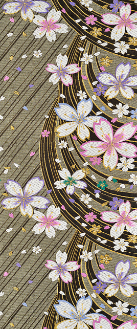 Embroidery「The Japanese Kimono, close up」:スマホ壁紙(1)