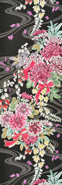 Embroidery「The Japanese Kimono, close up」:スマホ壁紙(3)