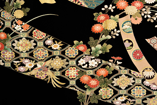 Embroidery「The Japanese Kimono, close up」:スマホ壁紙(4)