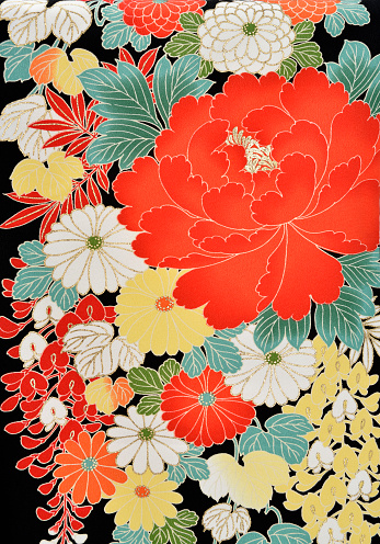 Embroidery「The Japanese Kimono, close up」:スマホ壁紙(5)