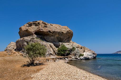 Patmos「Grikos bay and beach,Patmos island,Dodecanese」:スマホ壁紙(10)