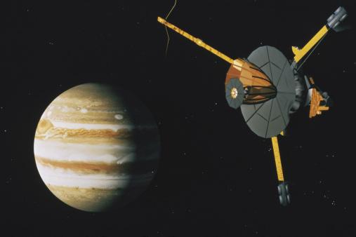 Solar System「Galileo orbiter approaching Jupiter」:スマホ壁紙(3)