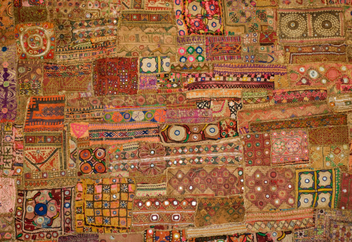 Embroidery「Indian Tapestry - patchwork」:スマホ壁紙(1)