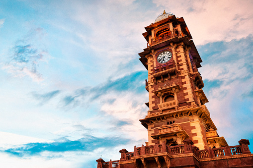 Rajasthan「Ghanta Ghar Clock Tower at Sunset in Jodhpur, India」:スマホ壁紙(18)