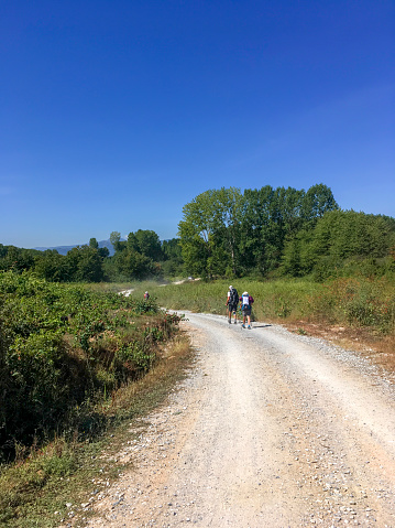 Camino De Santiago「pilgrims walking the camino to Santiago」:スマホ壁紙(0)