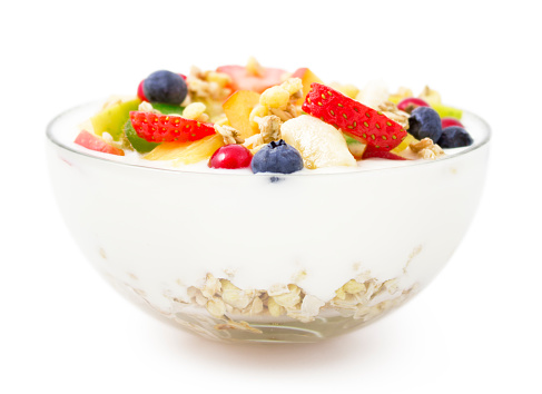 Oats - Food「Bowl of yogurt, fresh fruit and muesli for healthy breakfast」:スマホ壁紙(6)