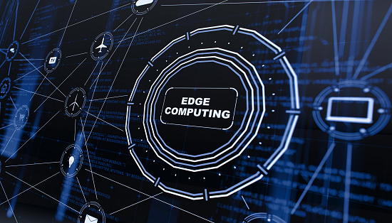 At The Edge Of「Edge computing digital background」:スマホ壁紙(17)