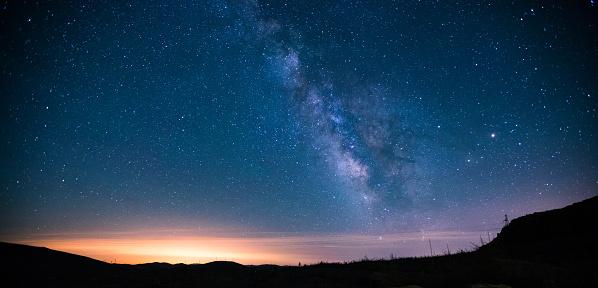 星空「Milky Way 夜」:スマホ壁紙(18)
