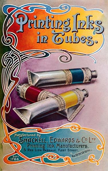 Art Nouveau「Printing Inks In Tubes - Shackell, Edwards & Co Ltd Advert, 1907」:写真・画像(13)[壁紙.com]