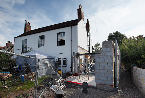 Building - Activity「Extension being built onto the side of a listed period property, mid project.」:スマホ壁紙(11)