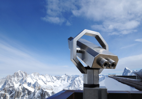 European Alps「Telescope On Alps Snow Mountain Viewing Platform - XLarge」:スマホ壁紙(13)