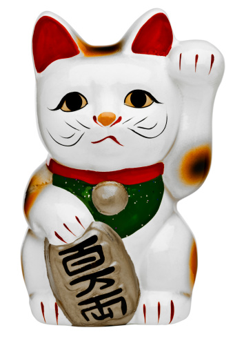 Japanese Language「Japanese porcelain lucky cat (Maneki Neko) 」:スマホ壁紙(10)