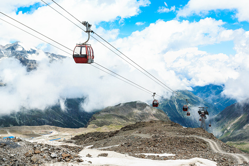 Aerial tramway「Cable -Cars in Stubai Glacier」:スマホ壁紙(4)