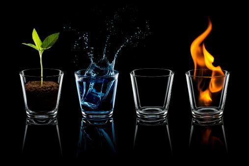 Conceptual Symbol「Classical element - Earth Water Air Fire Glass Four」:スマホ壁紙(1)