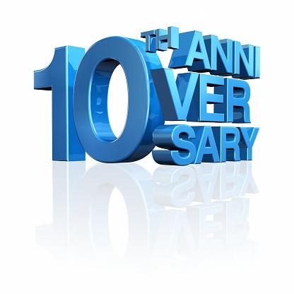 記念日「10 周年記念」:スマホ壁紙(6)