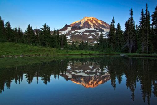 レーニア山国立公園「Mt レニエ反射」:スマホ壁紙(7)