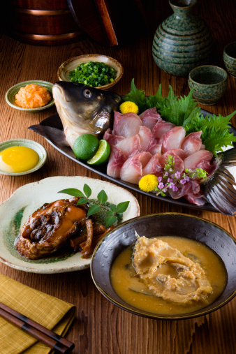 Sake「Carp dishes」:スマホ壁紙(18)