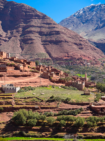 Atlas Mountains「Morocco, Marrakesh-Tensift-El Haouz, Atlas Mountains, Ourika Valley, Village Anammer, Loam houses」:スマホ壁紙(4)