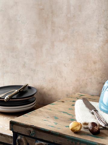 Chestnut「Empty kitchen,food,serving,home interior」:スマホ壁紙(7)