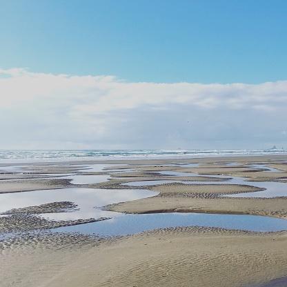 Cannon Beach「Low tide on Cannon Beach, Oregon, America, USA」:スマホ壁紙(3)