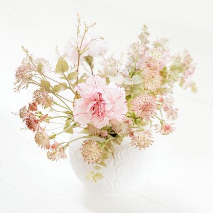 カーネーション「Pink flower bouquet」:スマホ壁紙(1)