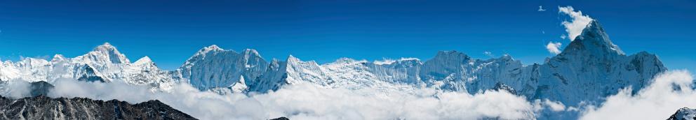 Island Peak「Makalu Ama Dablam Himalaya mountain peaks panorama Nepal」:スマホ壁紙(6)