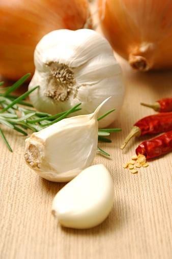 Garlic Clove「Garlic with red chili pepper and rosemary,」:スマホ壁紙(13)