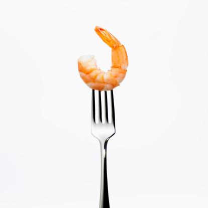 Shrimp - Seafood「Shrimp on a fork」:スマホ壁紙(4)