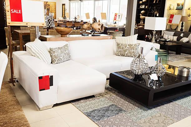 Couch on sale at upmarket home decor outlet:スマホ壁紙(壁紙.com)