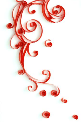 お正月「Red floral pattern」:スマホ壁紙(16)
