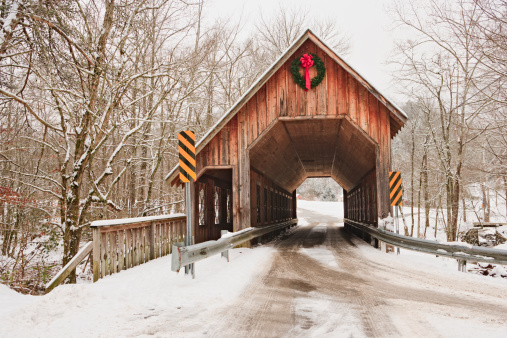Southern USA「Covered Bridge in Winter」:スマホ壁紙(1)