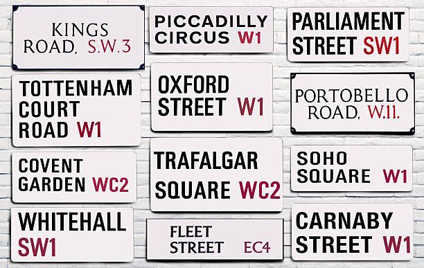 London street signs:スマホ壁紙(壁紙.com)