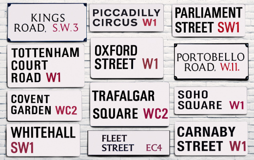 Oxford Street - London「London street signs」:スマホ壁紙(6)