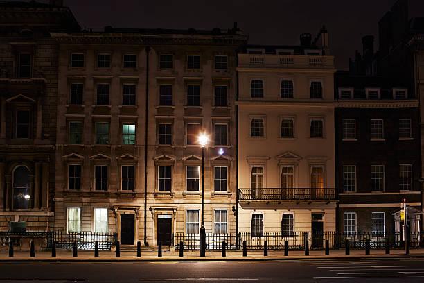 London street, England, at night:スマホ壁紙(壁紙.com)