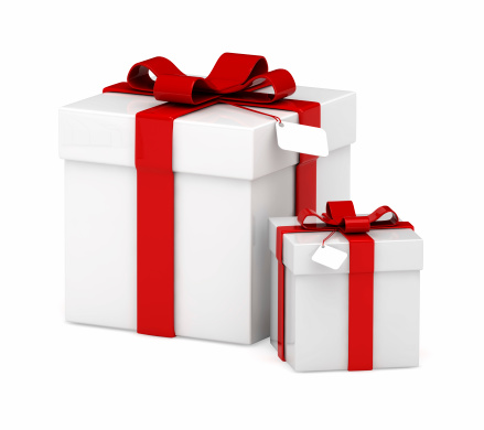 Birthday Present「Big and small white square gift boxes with red bows」:スマホ壁紙(11)