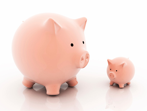 Choosing「Big and small savings concept.」:スマホ壁紙(8)